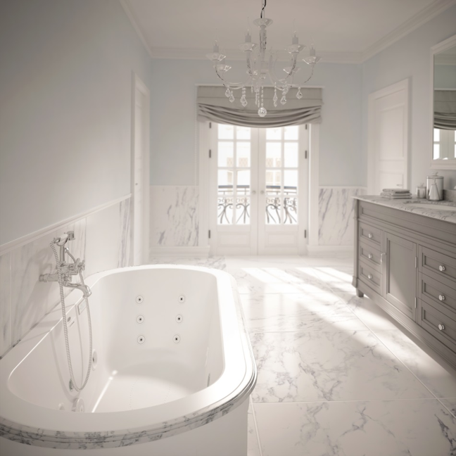 The New Duetta® bathtub by Jacuzzi Luxury Bath Offers Modern Design and Features