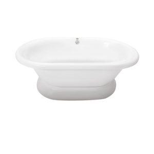 Era Double Ended Soaking Bath in White