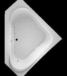 Capella Corner Bath in White