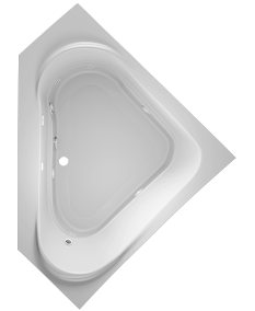 Capella Corner Bath in White