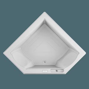Fuzion Corner bath Pure Air Expirence in White