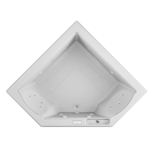 Fuzion Corner bath Salon Spa Expirence in White