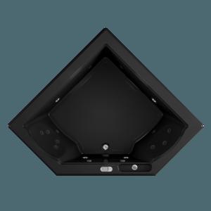 Fuzion Corner Bath With Whirlpool Experience in Black