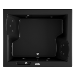 Fuzion Bath with Whirlpool experience in Black