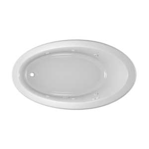Signature Oval Bath in White