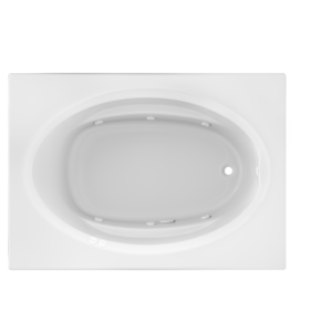 Signature Oval With Whirlpool Experience Bath in White
