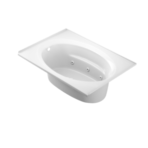 Signature Oval Bath With Whirlpool Experience in White