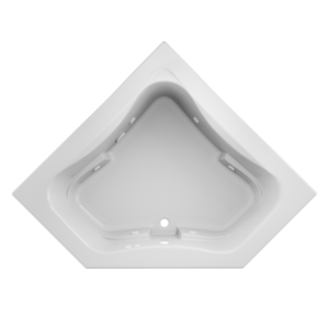 Signature Corner Bath With Whirlpool Experience in White