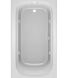 Luxura Bath with Whirlpool Experience in White