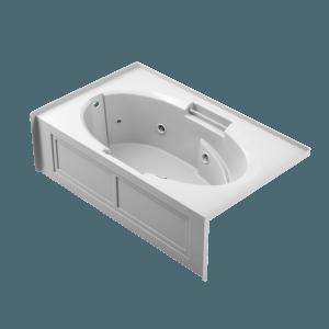 majora skirted whirlpool 7242 Bath in white