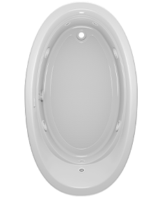 Riva Oval bath With Whirlpool Experience in White