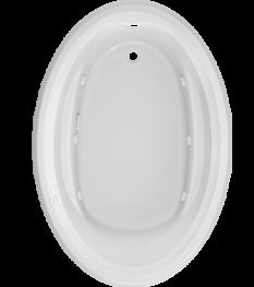 Signature Oval Bath in White