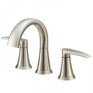 Lyndsay Widespread Faucet in Brushed Nickel