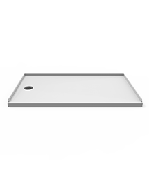 Catalina End-Drain Shower Base in White