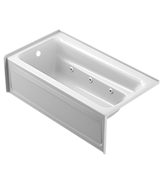Signature® Rectangle Skirted Bath with Armrests in White