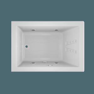 solna 6042 Salon spa bath in white