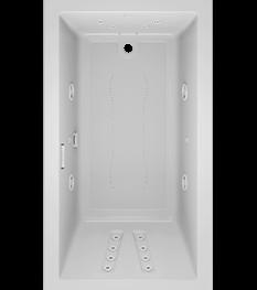Solna rectangle 6636 bath in White with salon spa
