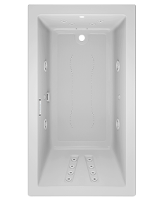 Solna rectangle 6636 bath in White with salon spa