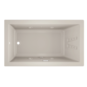 Solna rectangle 7242 Whirlpool bath in oyster