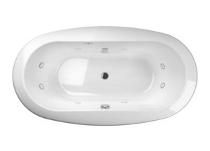Modena Freestanding Bath with Whirlpool Experience in White and Chrome