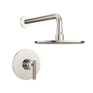 Salone Silhouette Shower Set in Brushed Nickel