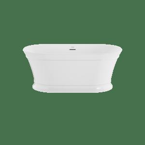 Serafina 59'x31' Freestanding Bath in White