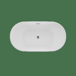 Serafina 59x31 Freestanding Bath in White