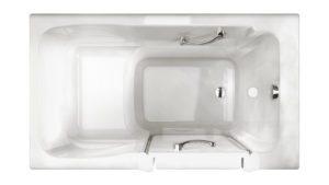 Finestra 52x30 Walk-in Soaking Bath in White