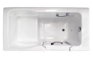 Finestra 60x30 Soaking Walk-in Bath in White