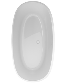 Contento Oval Solid Surface bath in White