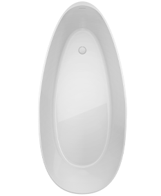 Ileana Oval Solid Surface Bath in White