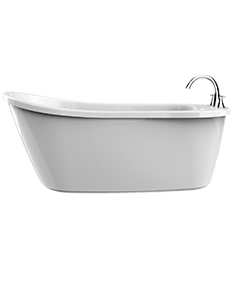 Piccolo Freestanding Bath in white