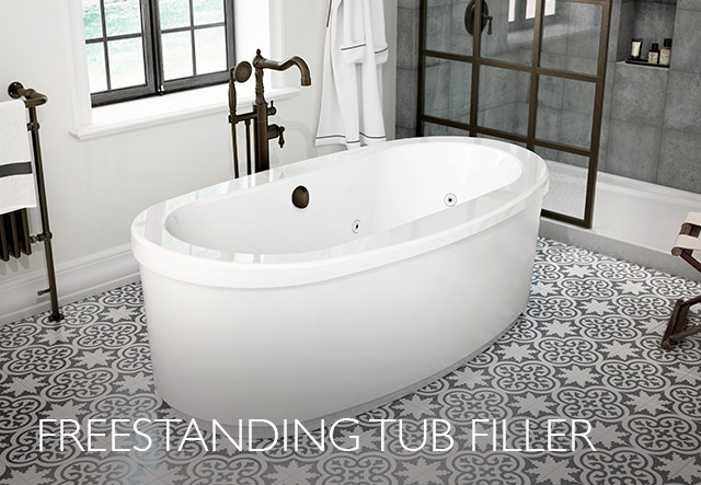 Oil Rubbed Bronze Freestanding Tub Filler