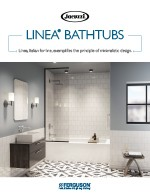 linea bathtubs brochure for drop in, skirted, and freestanding baths
