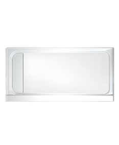Solid Surface End Drain Cover in White