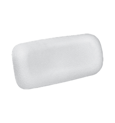 9' Small Curved Neck Pillow in White