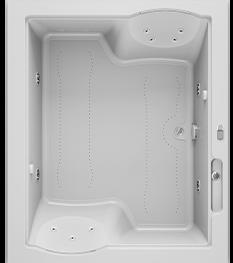 Fuzion 72x60 Bath in White