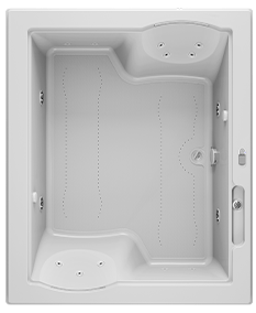 Fuzion 72x60 Bath in White