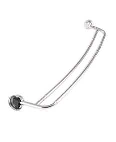 Jacuzzi Double Curve Shower Curtain Rod in Chrome
