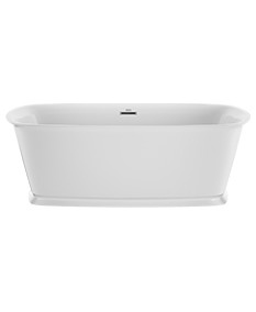 Delicato Freestanding Bath in Poloished Chrome