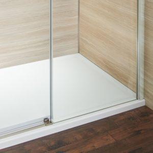Concealed Roller Door Brushed Nickel Bottom Track