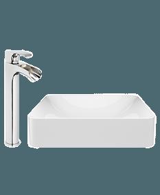 Jacuzzi rectangular vessel sink