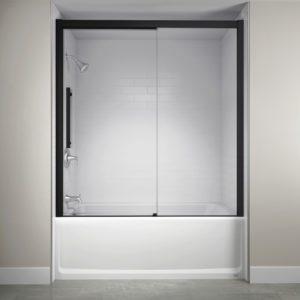 Jacuzzi Semi-Frameless Concealed Roller Door in Matte Black