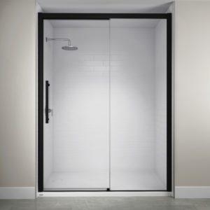 Jacuzzi Semi-Frameless Concealed Roller Door in Black