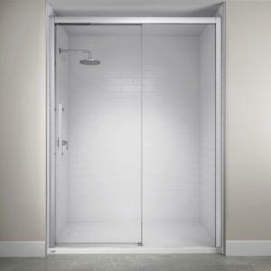 Jacuzzi Semi-Frameless Concealed Roller Door in Chrome