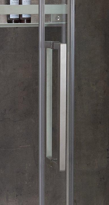 Door Handle in Brushed Nickel