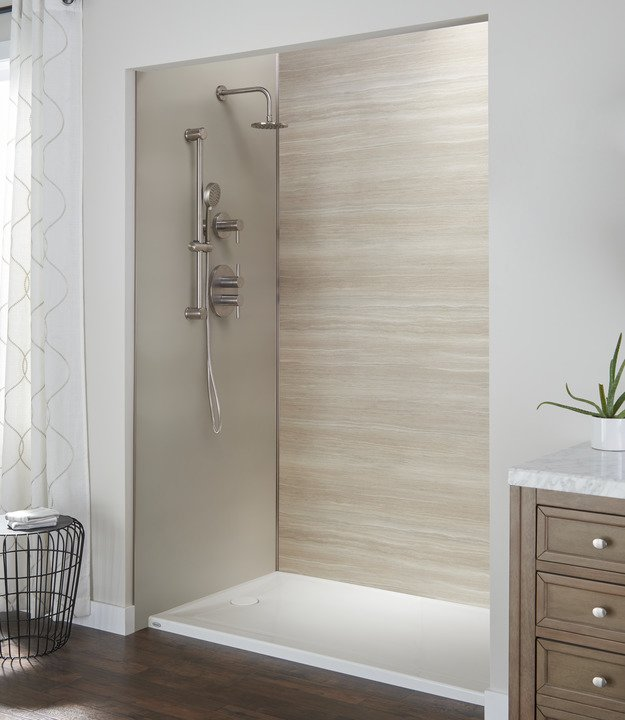 Canyon and Latte Wall combo with Brushed Nickel Extrusions