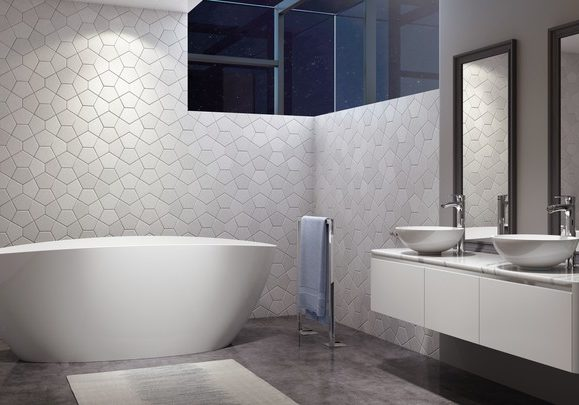Ileana Solid Surface Bath in White